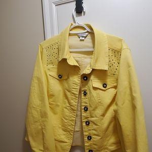Xl yellow Jean jacket Christopher banks